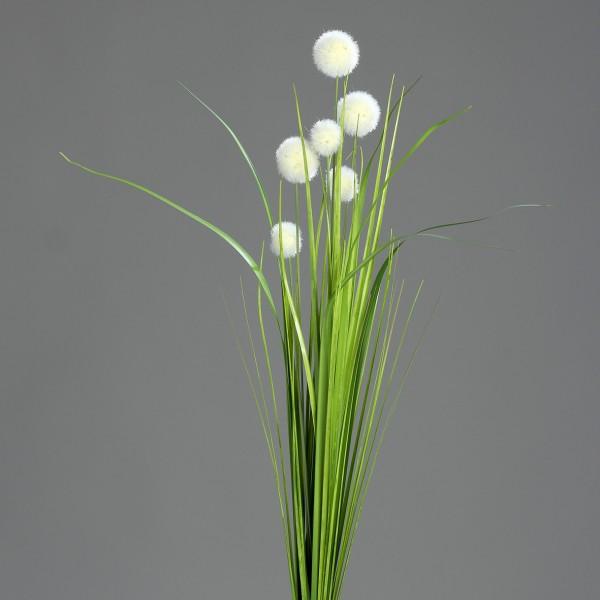 Kugelgrasbusch 72cm weiß-creme DP Kunstzweig künstlicher Graszweig Kunstgras künstliches Gras