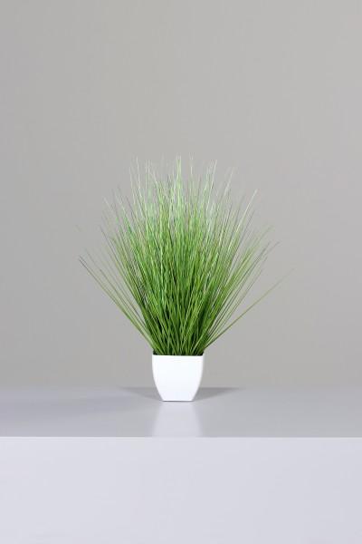California-Beach-Gras 52x35cm im weißen Topf DP Dekogras künstliches Gras Kunstpflanzen Grasbusch