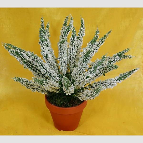Erika 28cm weiß -ohne Topf- DP Kunstpflanzen Kunstblumen Erikabusch künstliches Heidekraut