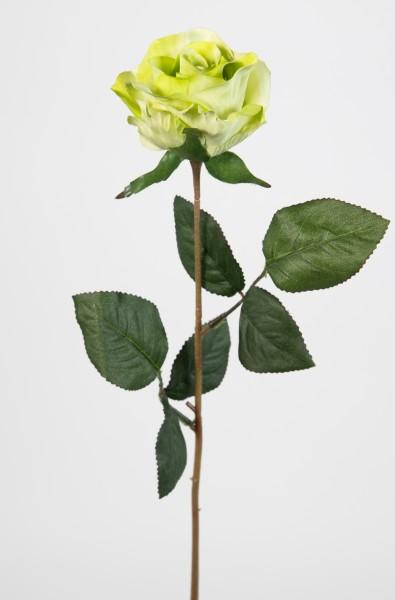 Rose 45cm grün LM Kunstblumen künstliche Rose Rosen Blumen Seidenblumen