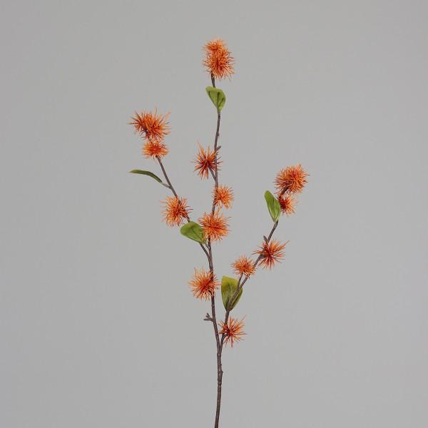 Zaubernusszweig / Hamameliszweig 100cm orange DP Kunstblumen Kunstzweig künstliche Blumen Hamamelis