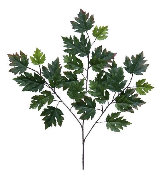 12 Stück Ahornzweig 55cm mit 30 Blättern DA künstlicher Zweig Ahorn Ahornblatt