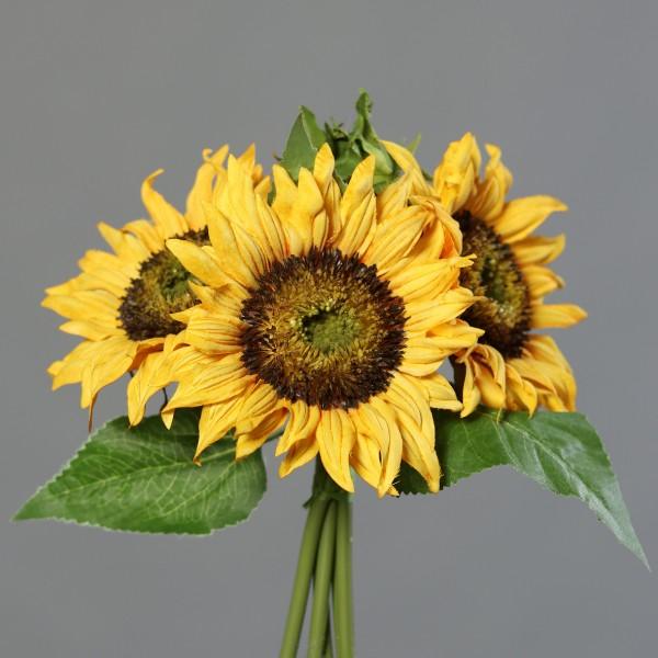 Sonnenblumenstrauß 28x26cm DP Kunstblumen künstlicher Strauß künstliche Blumen Sonnenblumen