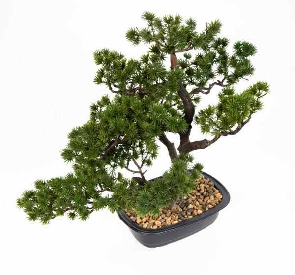 Bonsai Lärche 42x45x30cm in Schale GA künstlicher Baum Kunstbaum Kunstpflanzen