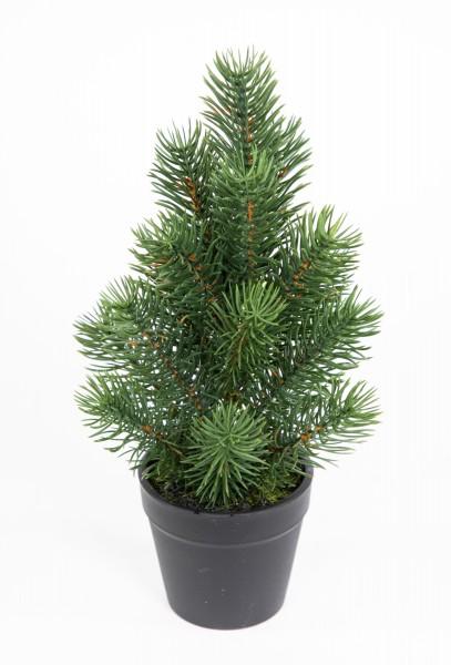 Mini Tannenbaum im Topf 26cm DP künstlicher Weihnachtsbaum Kunststoff 100% PE Tanne Spritzguss