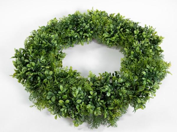 Buchsbaum- / Koniferenkranz 60cm grün FI künstlicher Kranz Buchsbaumkranz