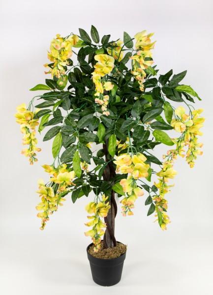 Wisteriabaum 90cm gelb ZJ Kunstbaum Kunstpflanzen künstlicher Baum Pflanzen Goldregen Wisteria