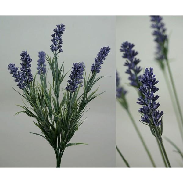 Lavendelbusch 34cm FI Kunstpflanzen künstlicher Lavendel Kunstblumen künstliche Blumen Pflanzen