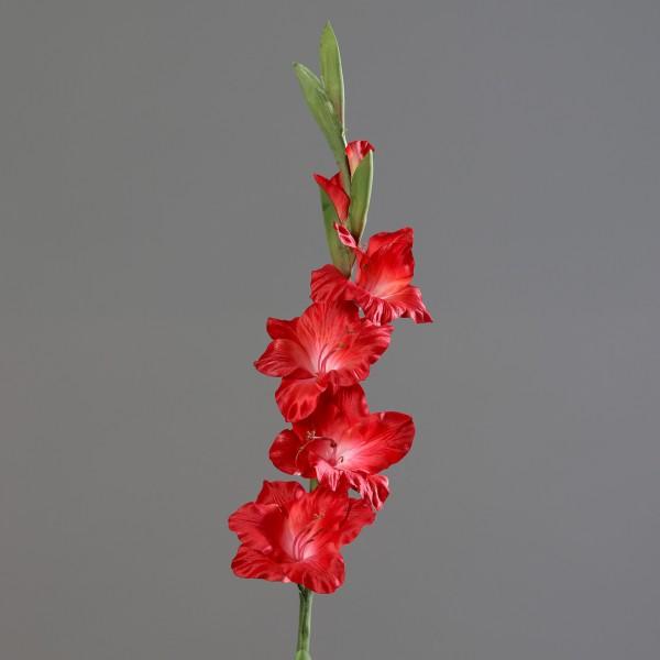 Gladiole 85cm rot DP Kunstblumen künstliche Schwertblume Blumen