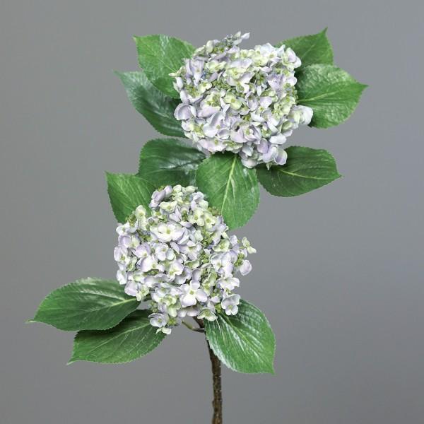Hortensienzweig 80cm blau-lila DP Kunstblumen Kunstpflanzen künstliche Hortensie Blumen Hydrangea