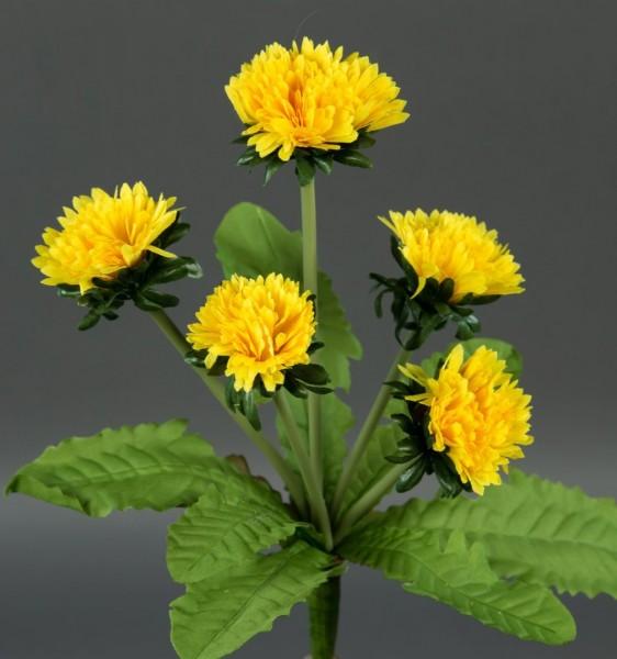 Löwenzahn 25cm mit 5 Blüten -ohne Topf- AD Kunstpflanzen künstliche Pflanzen Blumen Kunstblumen