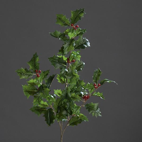 Ilexzweig Natural 52cm mit roten Beeren DP Kunstblumen künstliche Blumen Hagebutte
