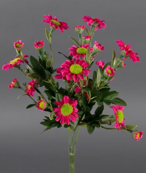 Margeritenbusch 30cm rosa-pink -ohne Topf- ZF Kunstpflanzen künstliche Margerite Pflanze Blumen Kuns