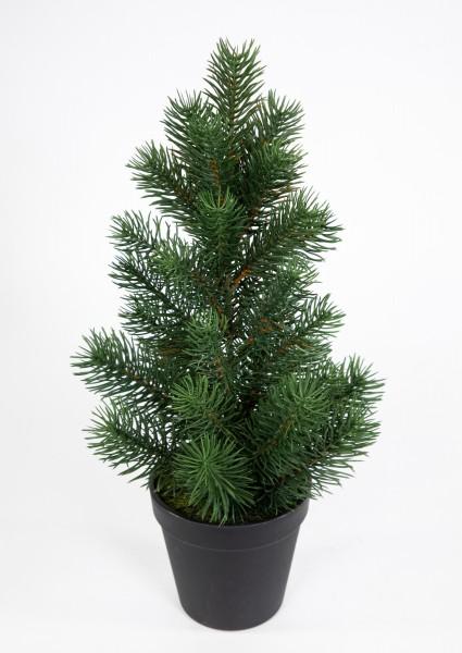 Mini Tannenbaum im Topf 38cm DP künstlicher Weihnachtsbaum Kunststoff 100% PE Tanne Spritzguss