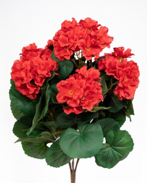 Geranie 38cm rot -ohne Topf- ZF Kunstpflanzen künstliche Blumen Pflanzen Kunstblumen