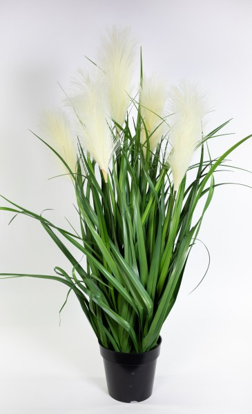 Pampasgras / Grasbusch 90cm GA Dekogras künstliches Gras Kunstpflanzen Cortaderia Selloana