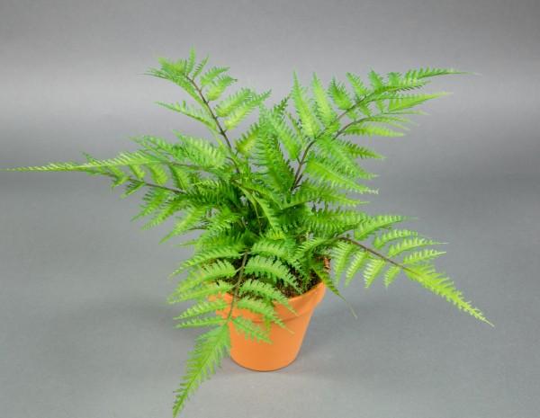 Farnbusch Natura 45x34 im Topf CG Kunstpflanzen künstlicher Farn künstliche Pflanzen