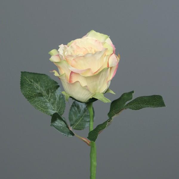 Rose 30cm gelb-peach DP Kunstblumen künstliche Blumen