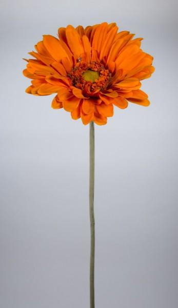 Große Deko-Gerbera 110cm orange JA Kunstblumen Seidenblumen künstliche Blumen Gerbera