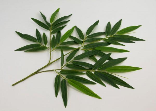 12 Stück Bambuszweig 65cm DA - 48 Blätter DA Kunstzweig künstlicher Bambus - Zweig