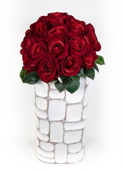 Baccararosenstrauß Exklusiv 40x32cm mit 27 Baccararosen PM Kunstblumen künstliche Blumen Strauß