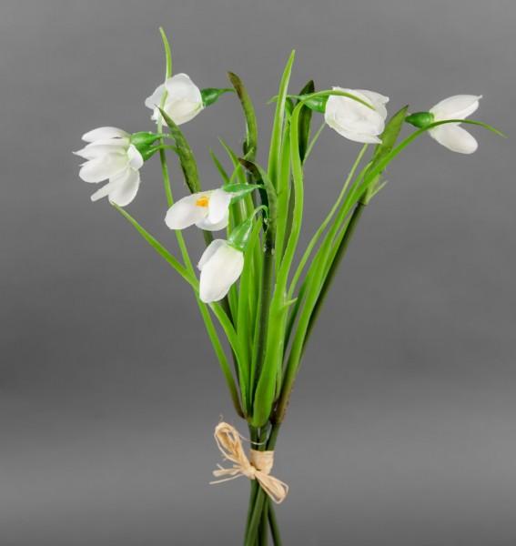 Schneeglöckchenbund 30cm GA Kunstblumen künstliche Schneeglöckchen Blumen
