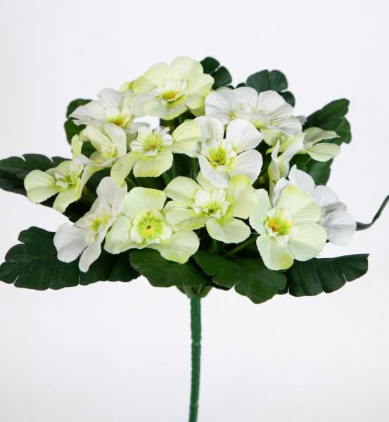 Primelbusch 24x22cm weiß mit 20 Blüten PM Kunstblumen Kunstpflanzen künstliche Primel Schlüsselblume
