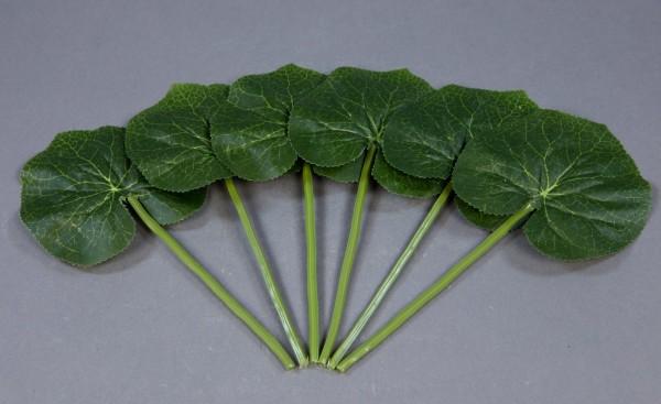 6 Stück Begonienblatt 22cm DP Kunstpflanzen Dekoblatt künstliches Blatt Blätter