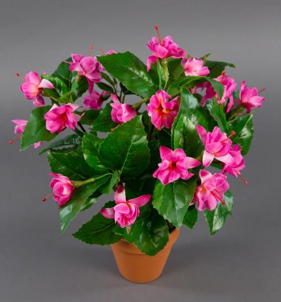 Fuchsien / Fuchsia 40cm rosa-pink im Topf ZF künstliche Pflanzen Kunstpflanzen Kunstblumen