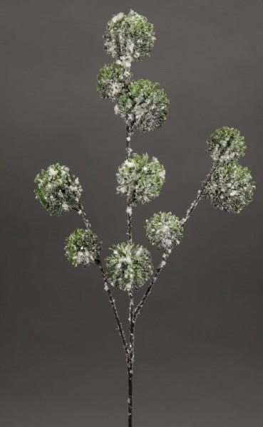 Alliumzweig 60cm mit Schnee und Eis GA Kunstzweig künstlicher Zweig künstliches Allium