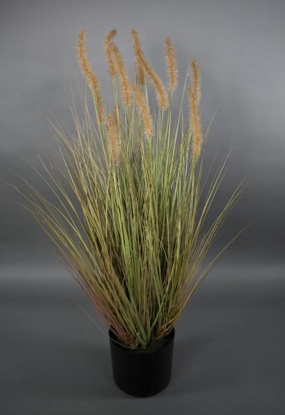 Fuchsschwanzgras 95x55cm braun CG Kunstpflanzen Dekogras Grasbusch künstliches Gras
