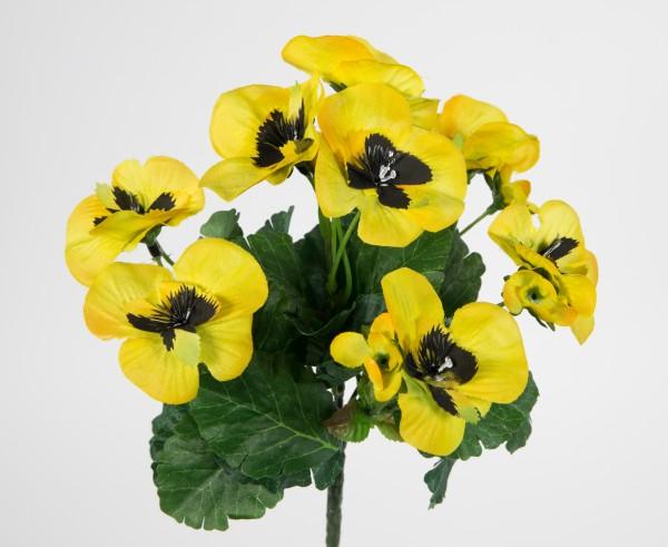 Künstliche Stiefmütterchen 26cm gelb PM Kunstpflanzen Pflanze Blumen Kunstblumen Veilchen