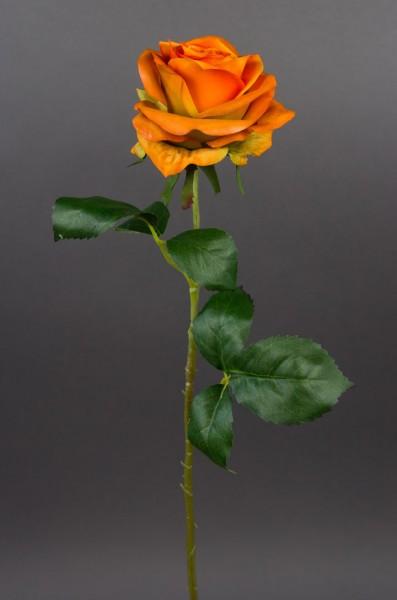 Rose 54cm orange CG Kunstblumen künstliche Rose Rosen Blumen Seidenblumen