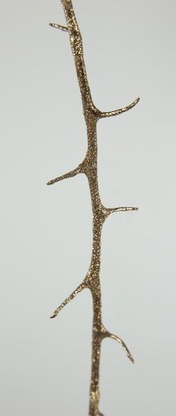3 Stück - Glitter-Dornenzweig 110cm gold DP