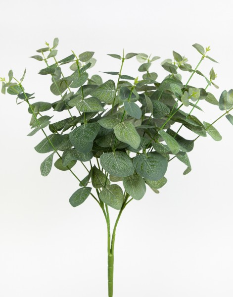 Eukalyptusbusch 45cm grün ZF Kunstzweige künstlicher Busch Kunstpflanzen künstlicher Eukalyptus