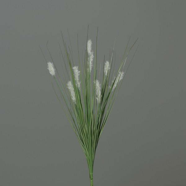 Katzenschwanzgras 60cm weiß -ohne Topf- DP Kunstpflanzen Dekogras Grasbusch künstliches Gras