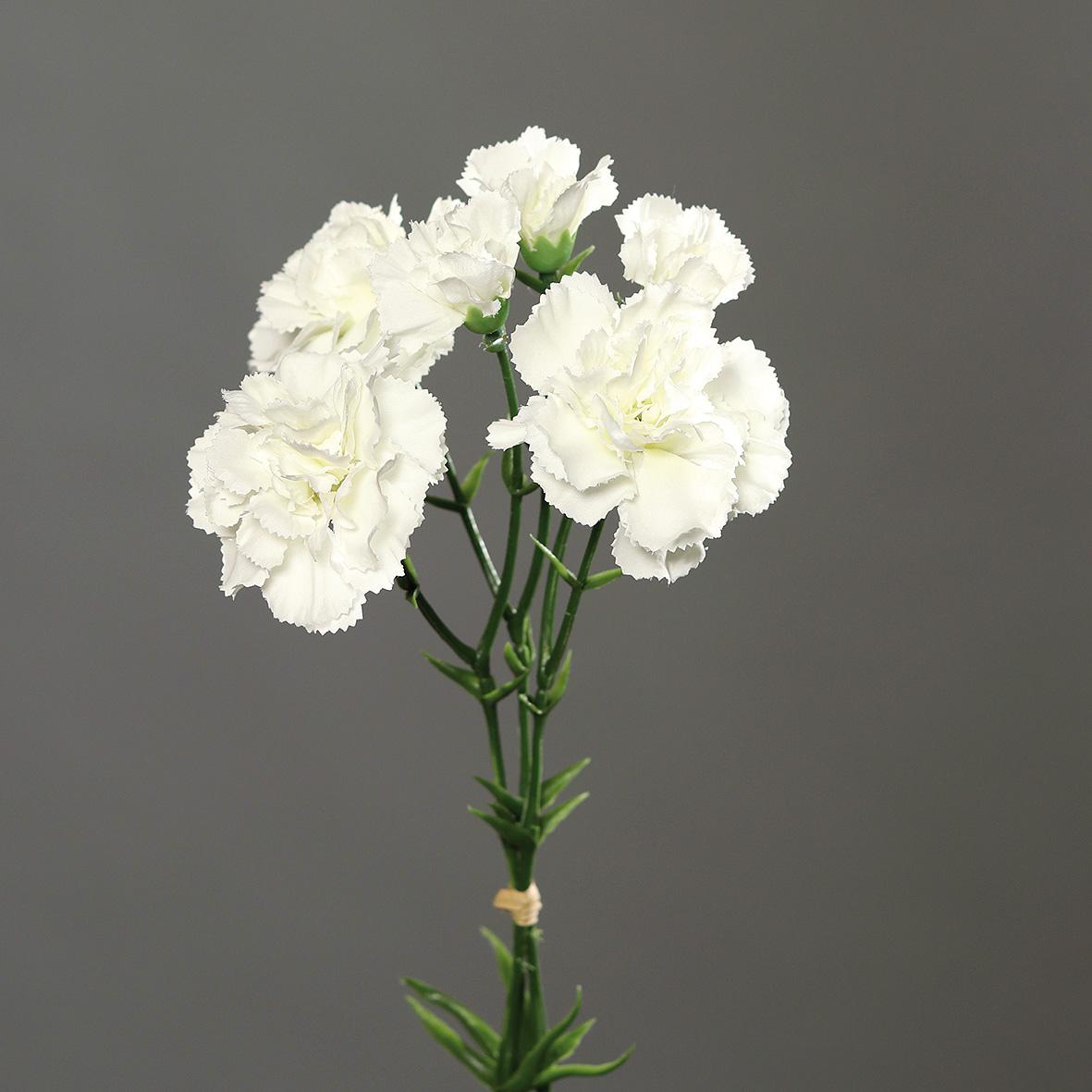 Nelkenbund avec 3 pédoncules 30 cm Rosa DP Art Fleurs fleurs artificielles des oeillets