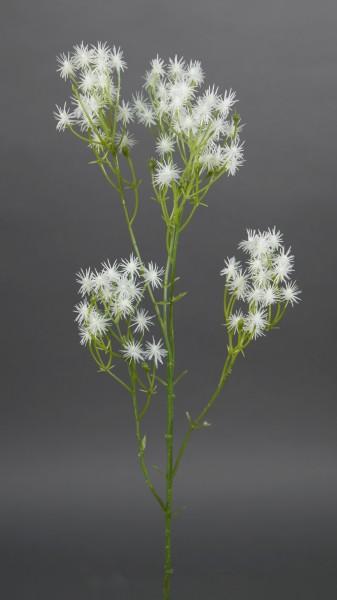 Klettenzweig 54cm weiß GA Kunstblumen künstliche Blumen