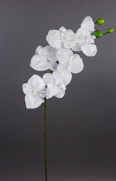 12 Stück Orchideenzweig 82cm rein-weiß AR Kunstblumen künstliche Orchidee Orchideen Blumen