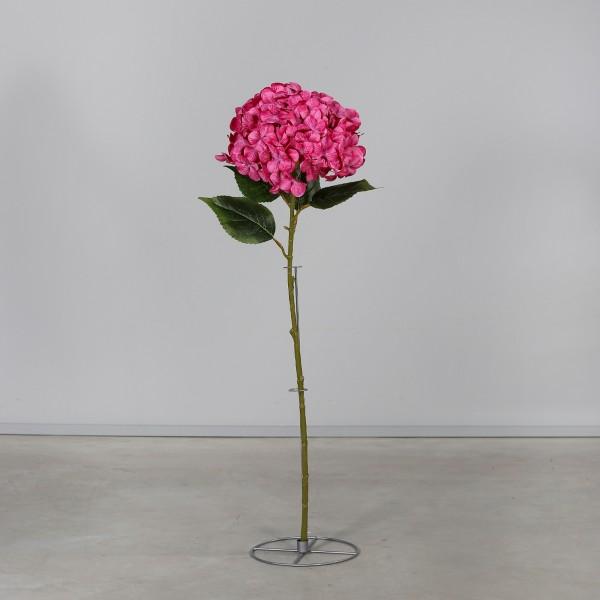 Große Hortensie 110x32cm pink mit Dekoständer DP Kunstblumen künstliche Hortensie Blumen