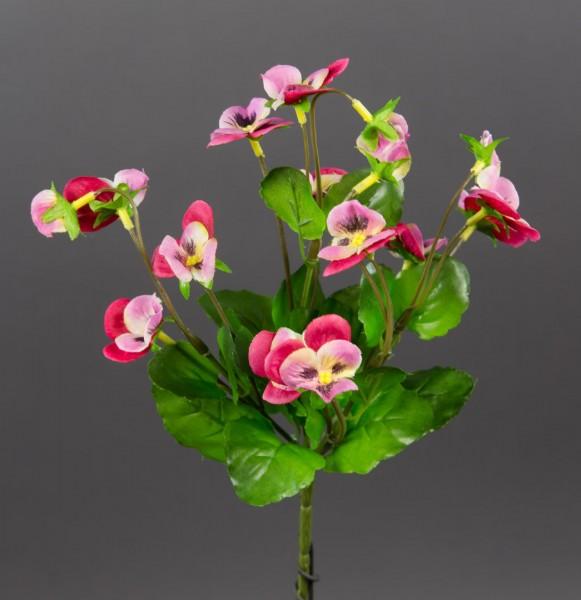 Hornveilchen 22cm rosa-pink FI Kunstpflanzen Kunstblumen künstliche Veilchen Stiefmütterchen