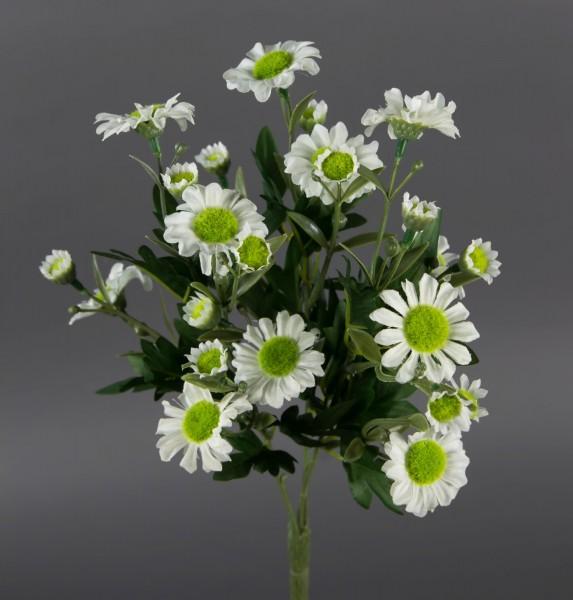 Margeritenbusch 30cm weiß -ohne Topf- ZF Kunstpflanzen künstliche Margerite Pflanze Blumen Kunstblum