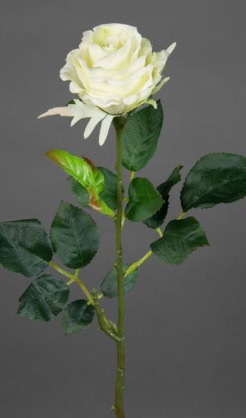 12 Stück Rose Elena 45cm weiß PM Seidenblumen Kunstblumen künstliche Blumen Rosen