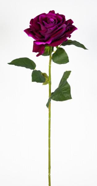 Große Baccararose 75x14cm purple JA Kunstblumen künstliche Rose Rosen Blumen Seidenblumen