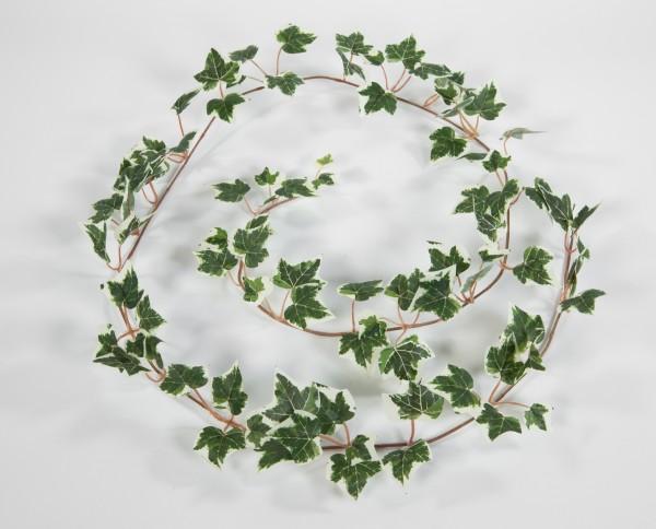 Künstliche Efeugirlande 160cm grün-weiß GA Kunstpflanzen künstliche Pflanzen Girlande Efeu