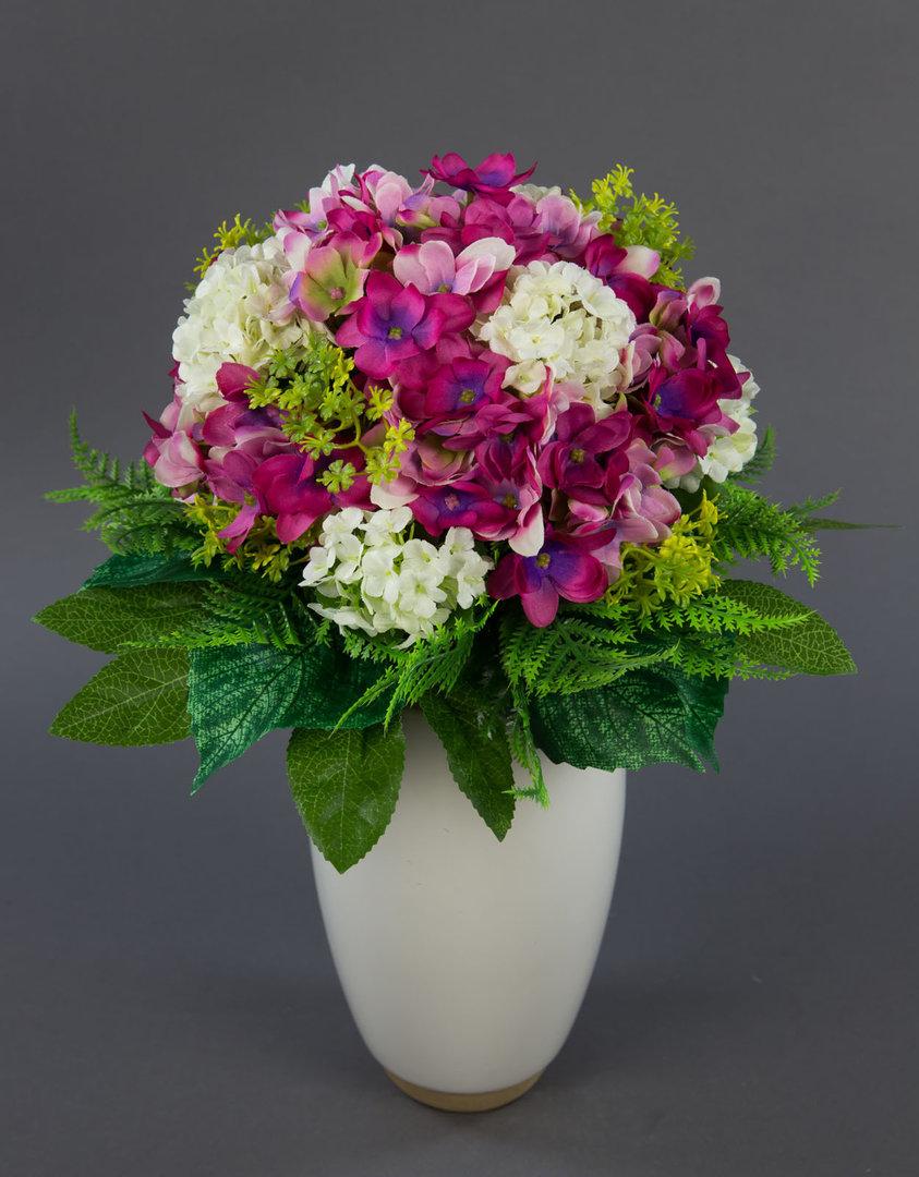 hortensienstrau mit schneeballen rosa pink kunstblumen. Black Bedroom Furniture Sets. Home Design Ideas