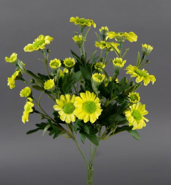 Margeritenbusch 30cm gelb -ohne Topf- ZF Kunstpflanzen künstliche Margerite Pflanze Blumen Kunstblum