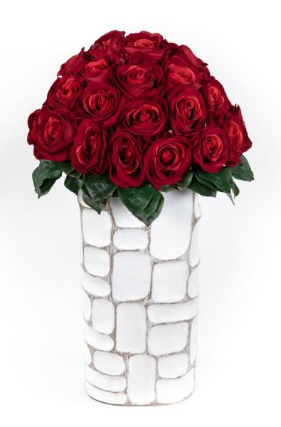 Baccararosenstrauß Exklusiv 52x38cm mit 36 Baccararosen PM Kunstblumen künstliche Blumen Strauß