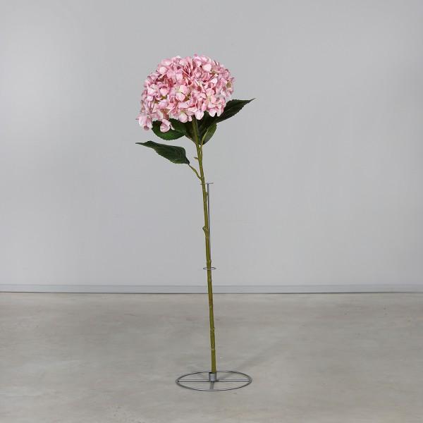 Große Hortensie 110x32cm rosa mit Dekoständer DP Kunstblumen künstliche Hortensie Blumen