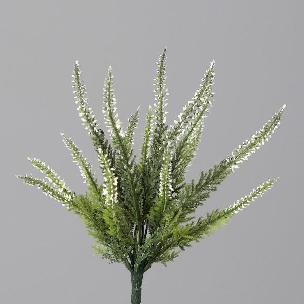 Künstlicher Erikabusch / Heidekraut 25cm weiß DP# Kunstpflanzen Kunstblumen Erika Blumen
